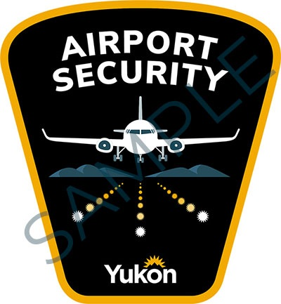 Sample badge for Government of Yukon airport security