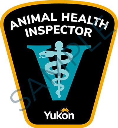 Sample badge for Government of Yukon animal health inspectors