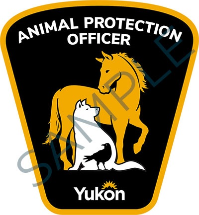 Sample badge for Government of Yukon animal protection officers