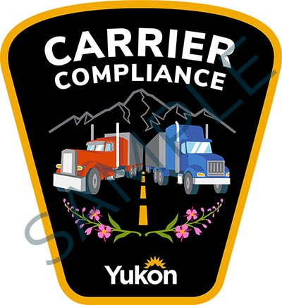 Sample badge for Government of Yukon carrier compliance