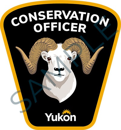 Sample badge for Government of Yukon conservation officers