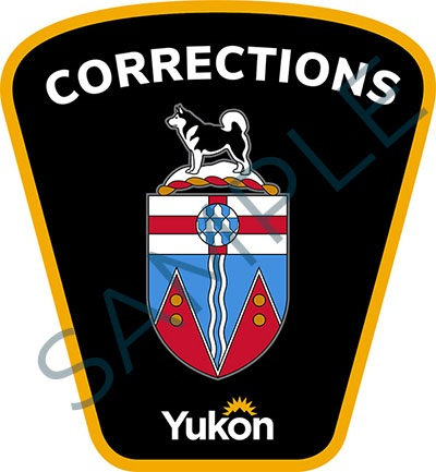 Sample badge for Government of Yukon corrections