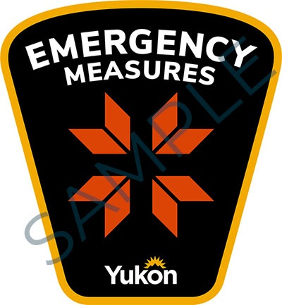Sample badge for Government of Yukon emergency measures