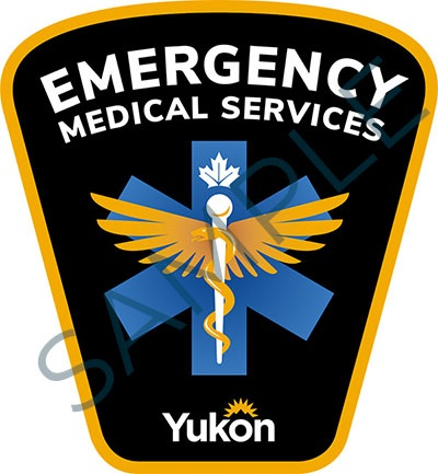 Sample badge for Government of Yukon emergency medical services