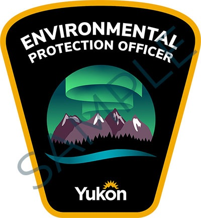 Sample badge for Government of Yukon environmental protection officers