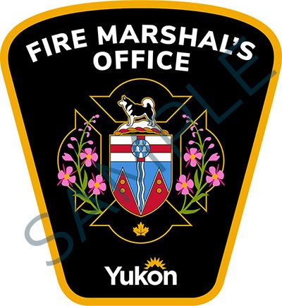 Sample badge for Government of Yukon fire marshal's office