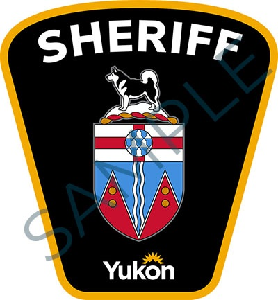 Sample badge for Government of Yukon sheriff