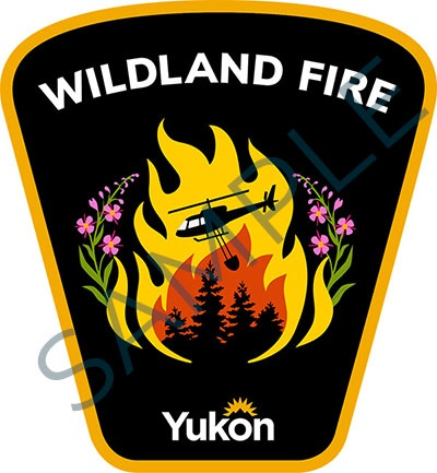 Sample badge for Government of Yukon wildland fire