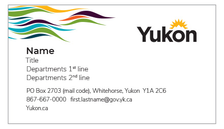 See an example of the front of the Premier and Ministers business card