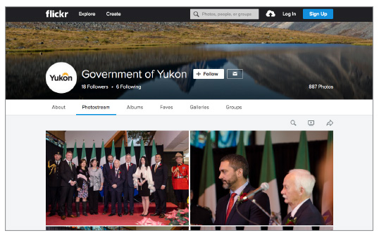 See how the government logo should appear on flickr