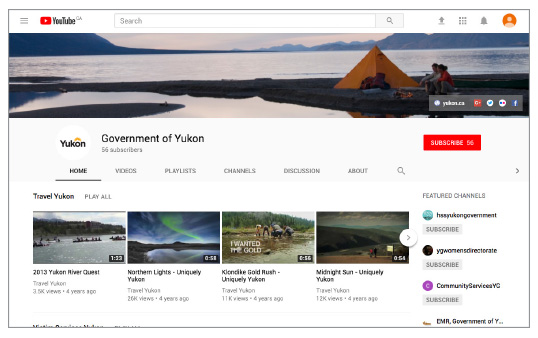 See how the government logo should appear on YouTube
