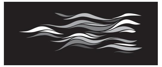 See greyscale Aurora on black
